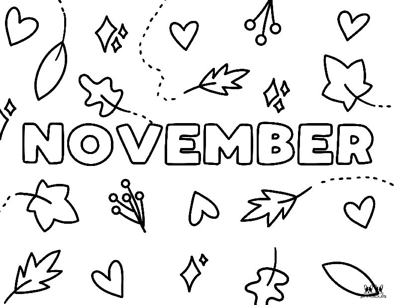 Printable November Coloring Page-Page 8
