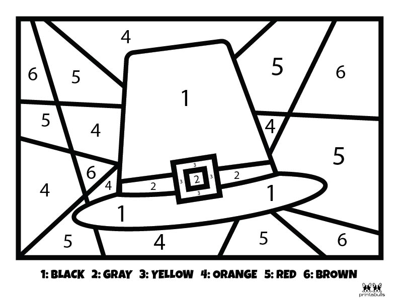 Printable Thanksgiving Color By Number-Page 12