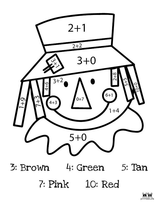 Printable Thanksgiving Color By Number-Page 13