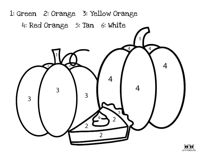 Printable Thanksgiving Color By Number-Page 15