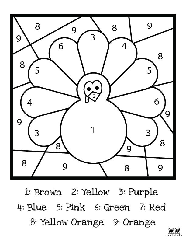 Printable Thanksgiving Color By Number-Page 3