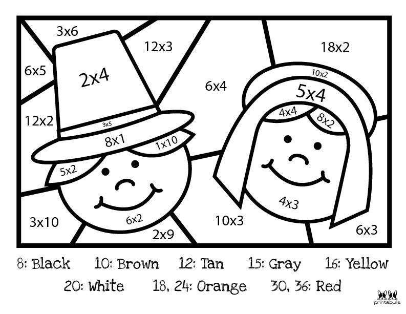 Printable Thanksgiving Color By Number-Page 8
