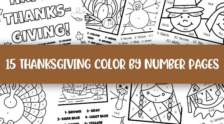 Thanksgiving Color By Number Printables Printabulls