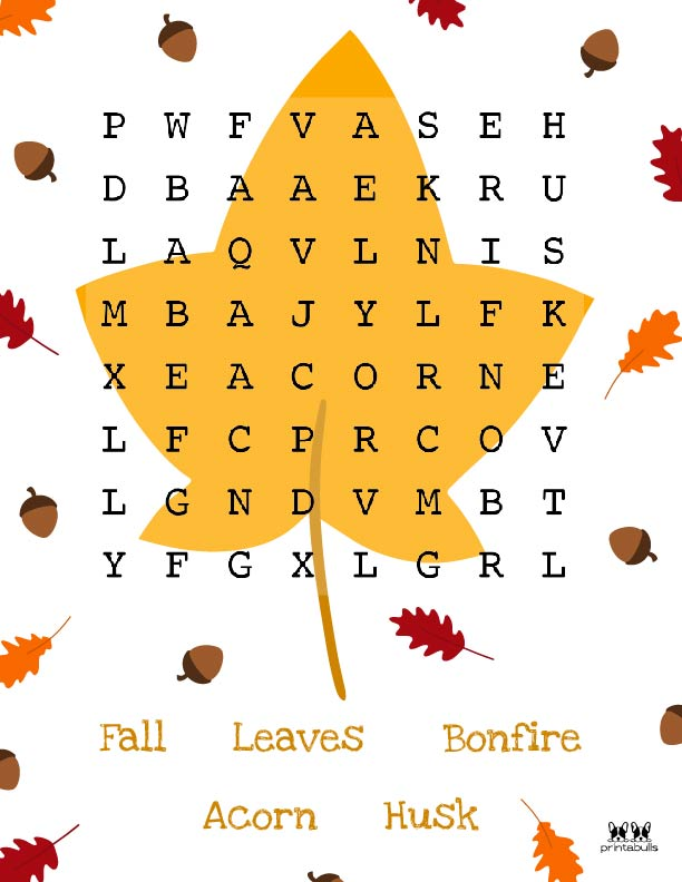 Printable Thanksgiving Word Search-Easy 5