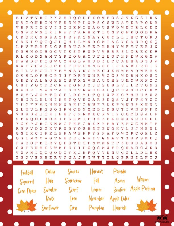 Printable Thanksgiving Word Search-Very Hard 5