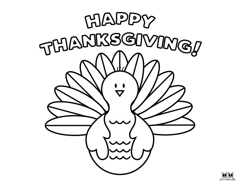 Printable Turkey Coloring Pages-Page 1