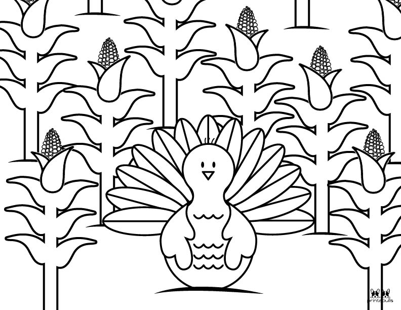 Printable Turkey Coloring Pages-Page 10