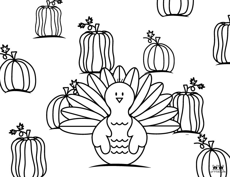 Printable Turkey Coloring Pages-Page 12