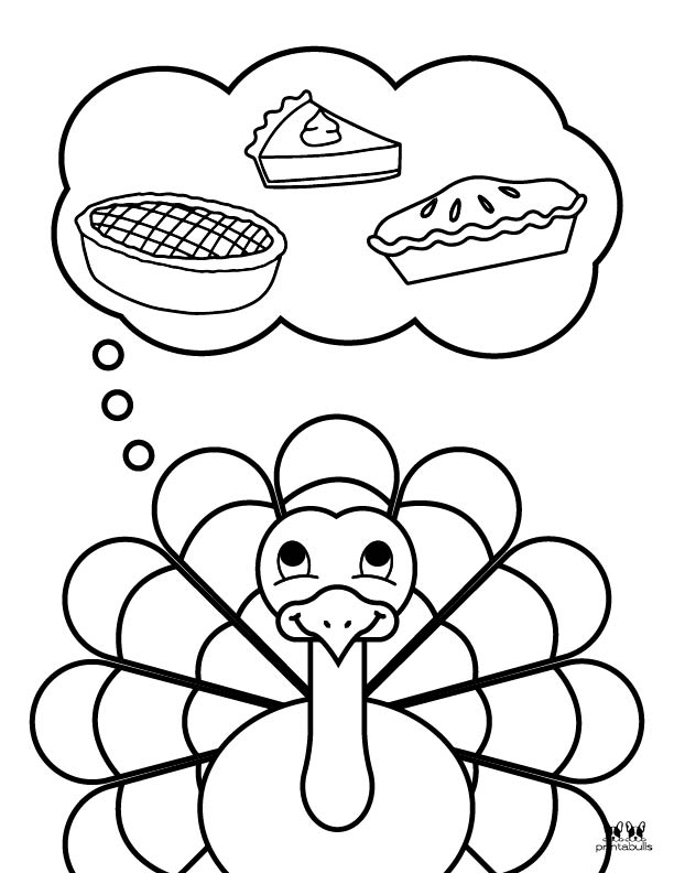 Printable Turkey Coloring Pages-Page 13