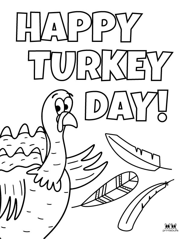 Printable Turkey Coloring Pages-Page 14