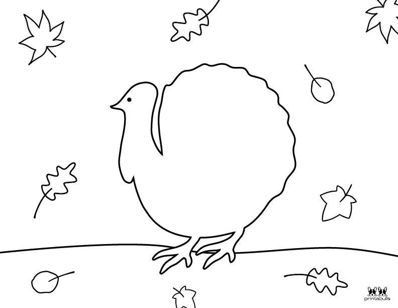 Printable Turkey Coloring Pages-Page 17