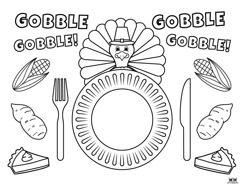 Printable Turkey Coloring Pages-Page 18