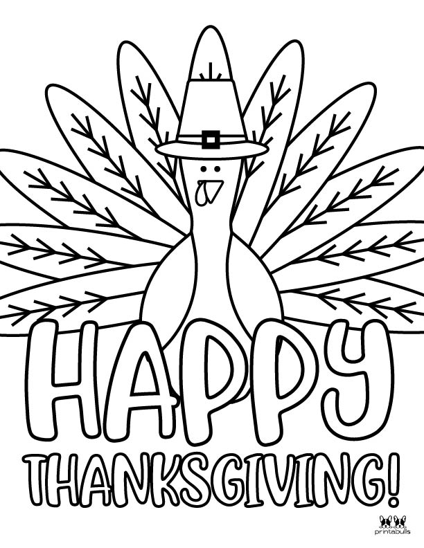Printable Turkey Coloring Pages-Page 19