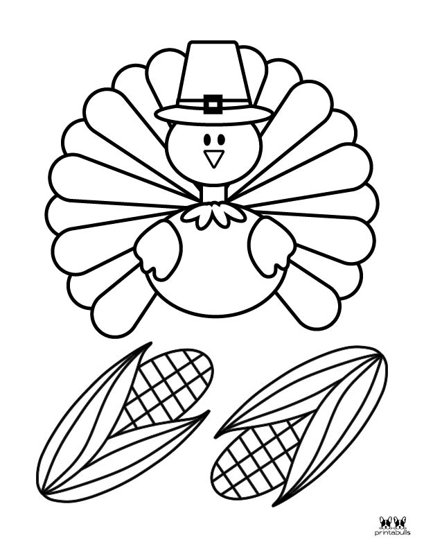 Printable Turkey Coloring Pages-Page 2