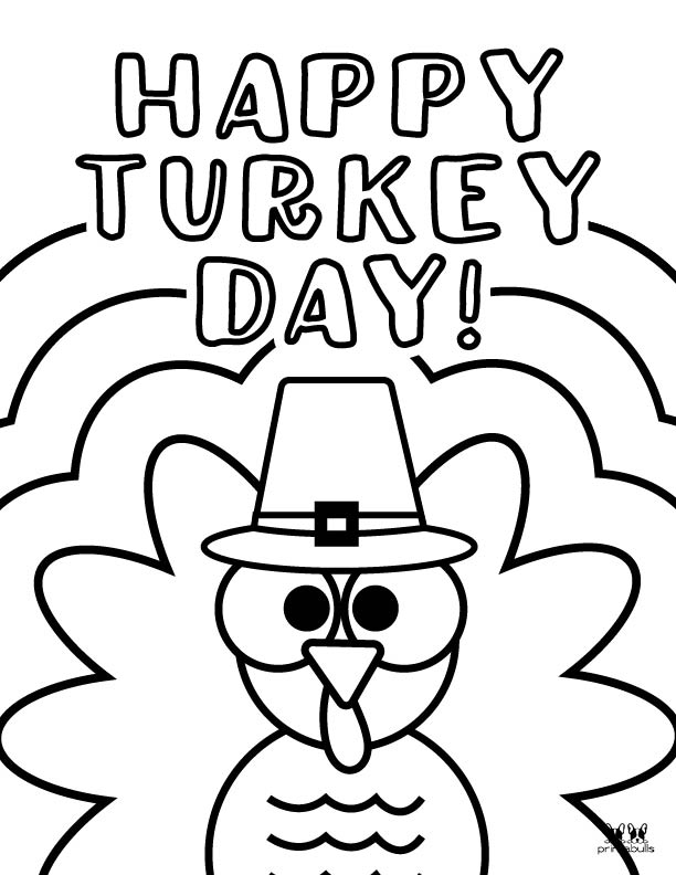 Printable Turkey Coloring Pages-Page 22
