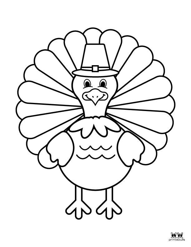 Printable Turkey Coloring Pages-Page 25