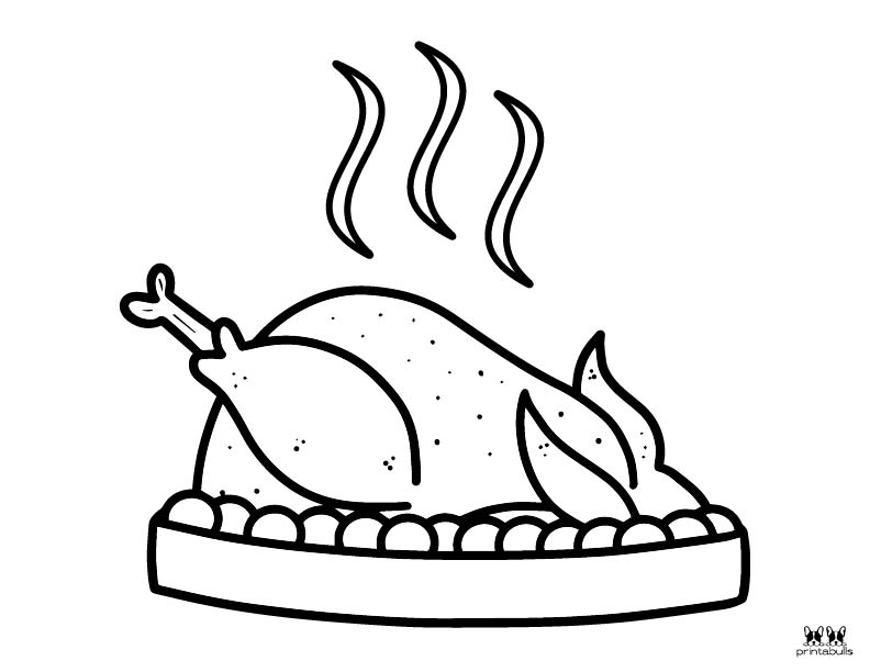 Printable Turkey Coloring Pages-Page 4