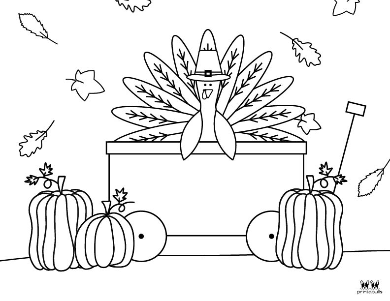 Printable Turkey Coloring Pages-Page 7