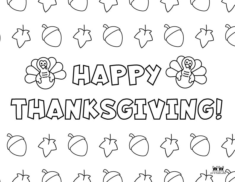 Printable Turkey Coloring Pages-Page 8