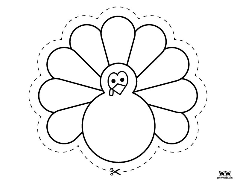 Printable Turkey Template-Page 1