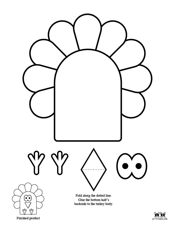 Printable Turkey Template-Page 10
