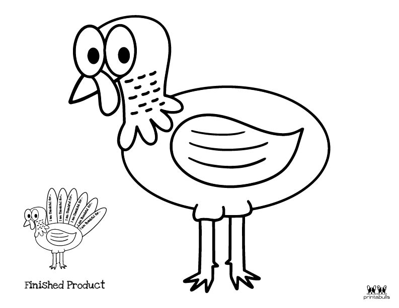 Printable Turkey Template-Page 16