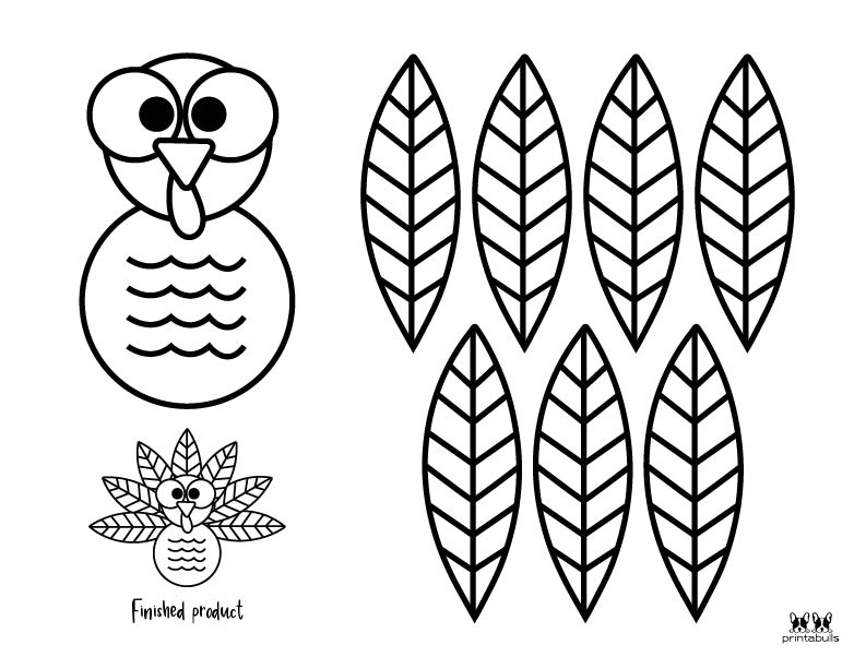 Printable Turkey Template-Page 22