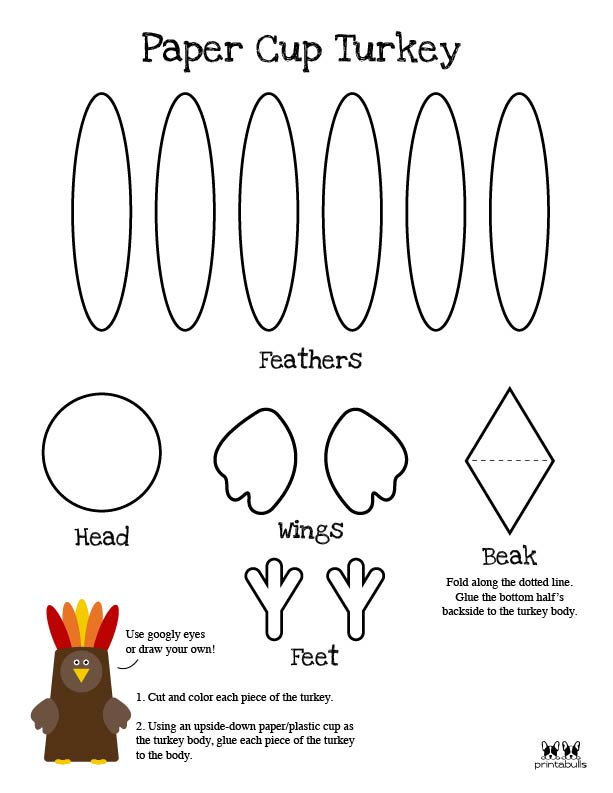 Printable Turkey Template-Page 25
