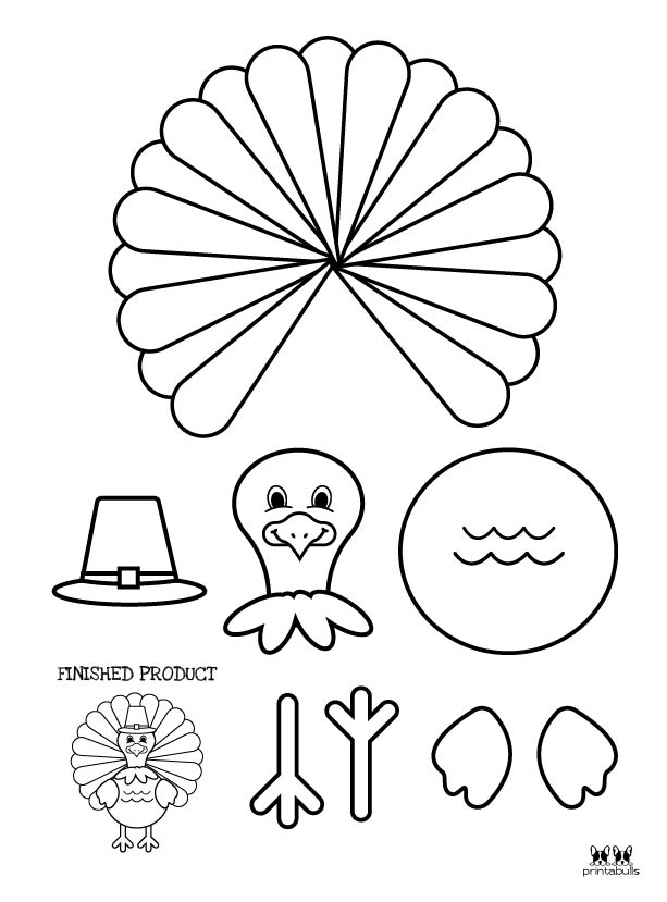 Printable Turkey Template-Page 8