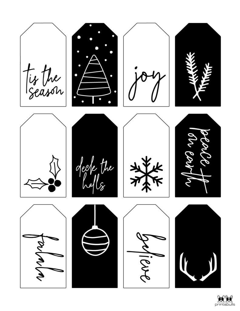 Printable Christmas Gift Tags_Page 1