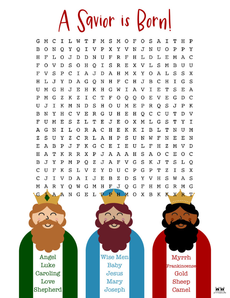 Printable Christmas Word Search-Hard 2
