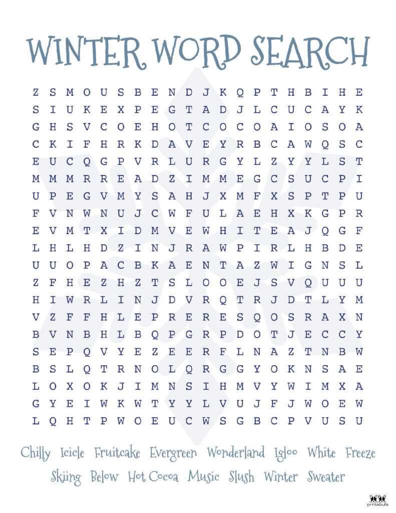 Printable Christmas Word Search-Hard 3
