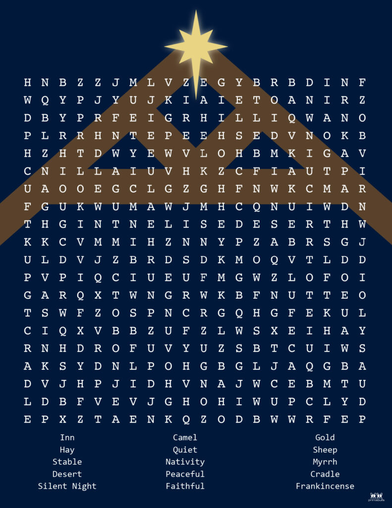 Printable Christmas Word Search-Hard 4