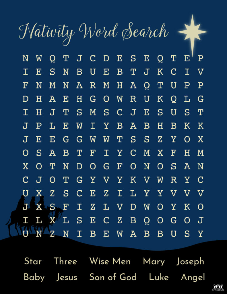 Printable Christmas Word Search-Medium 4