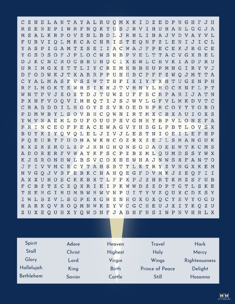 Printable Christmas Word Search-Very Hard 4