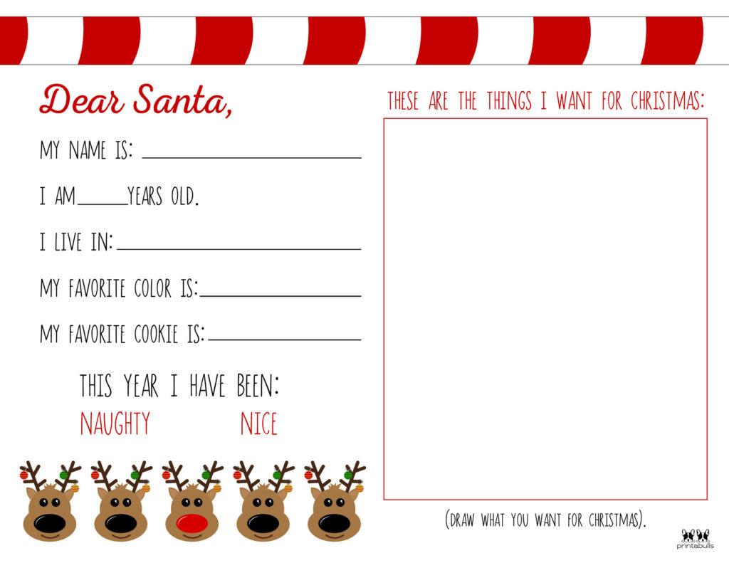 Printable Dear Santa Letter Template-Page 10