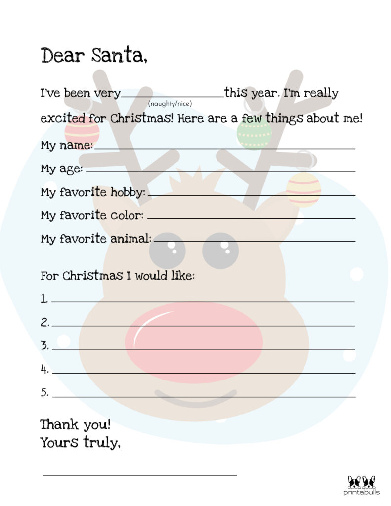 Printable Dear Santa Letter Template-Page 14