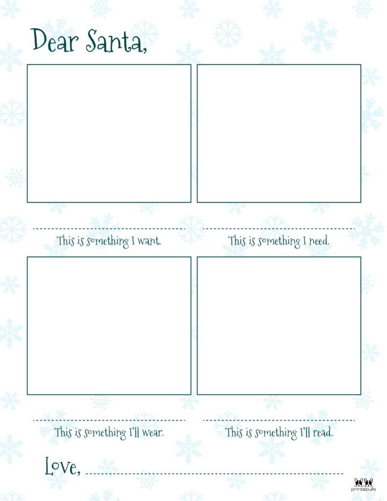 Printable Dear Santa Letter Template-Page 19