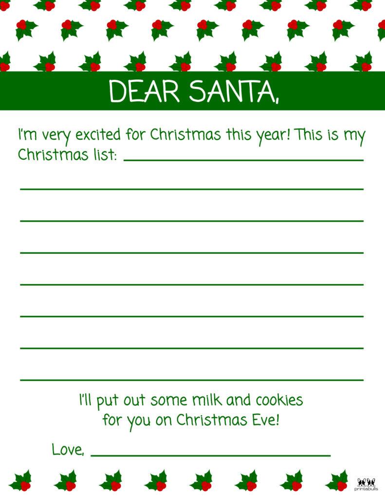 Printable Dear Santa Letter Template-Page 3