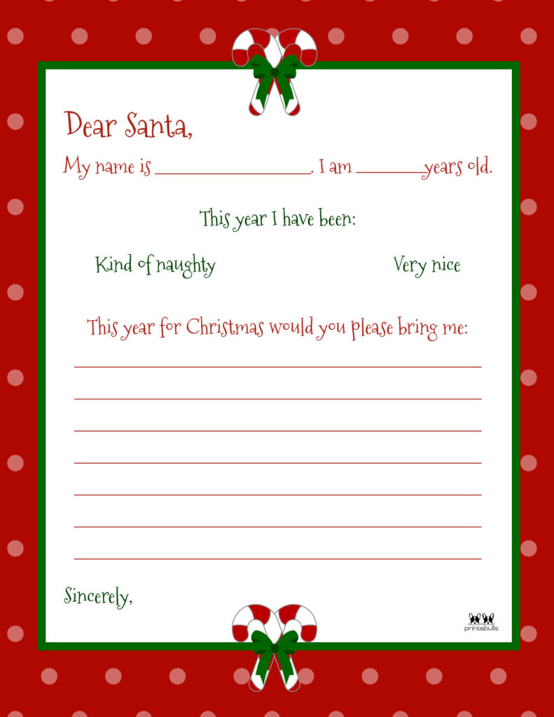 Printable Dear Santa Letter Template-Page 4