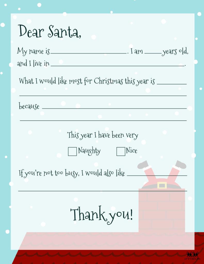 Printable Dear Santa Letter Template-Page 7