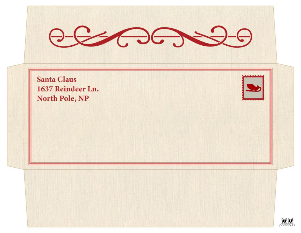 Printable Santa Envelope Template-Page 1