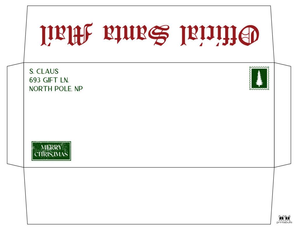 Printable Santa Envelope Template-Page 11