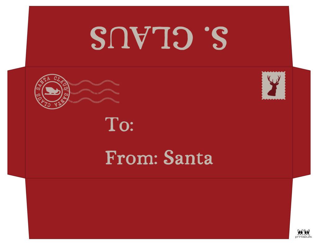 Printable Santa Envelope Template-Page 12