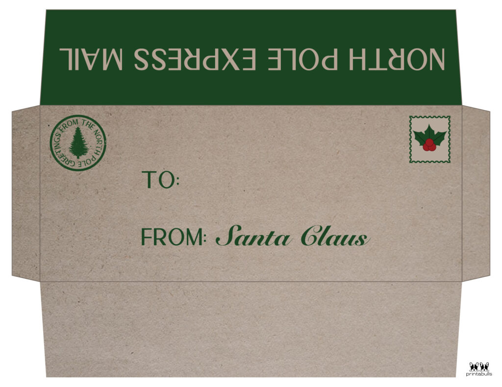 Printable Santa Envelope Template-Page 2
