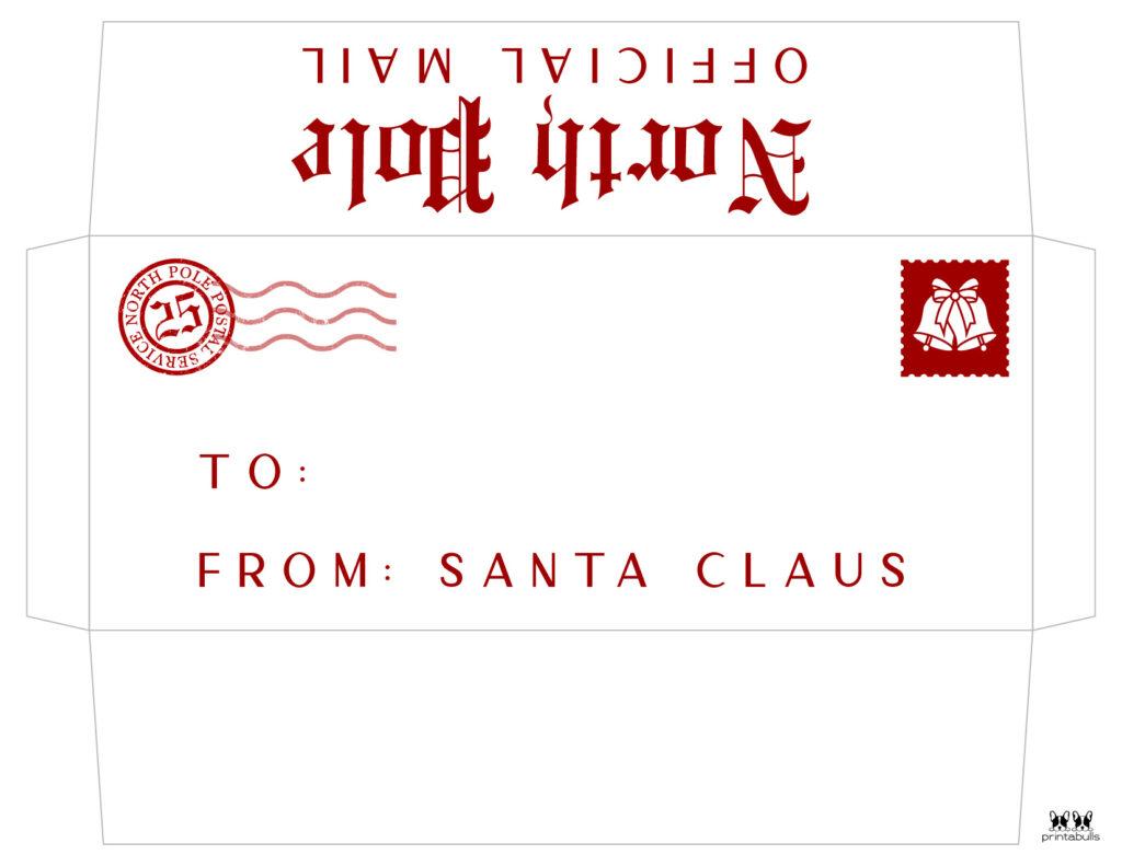 Printable Santa Envelope Template-Page 3