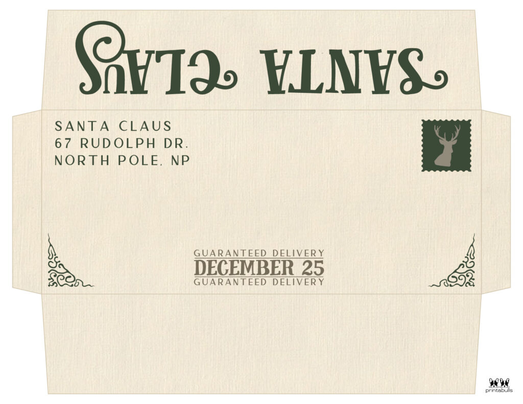 Printable Santa Envelope Template-Page 4