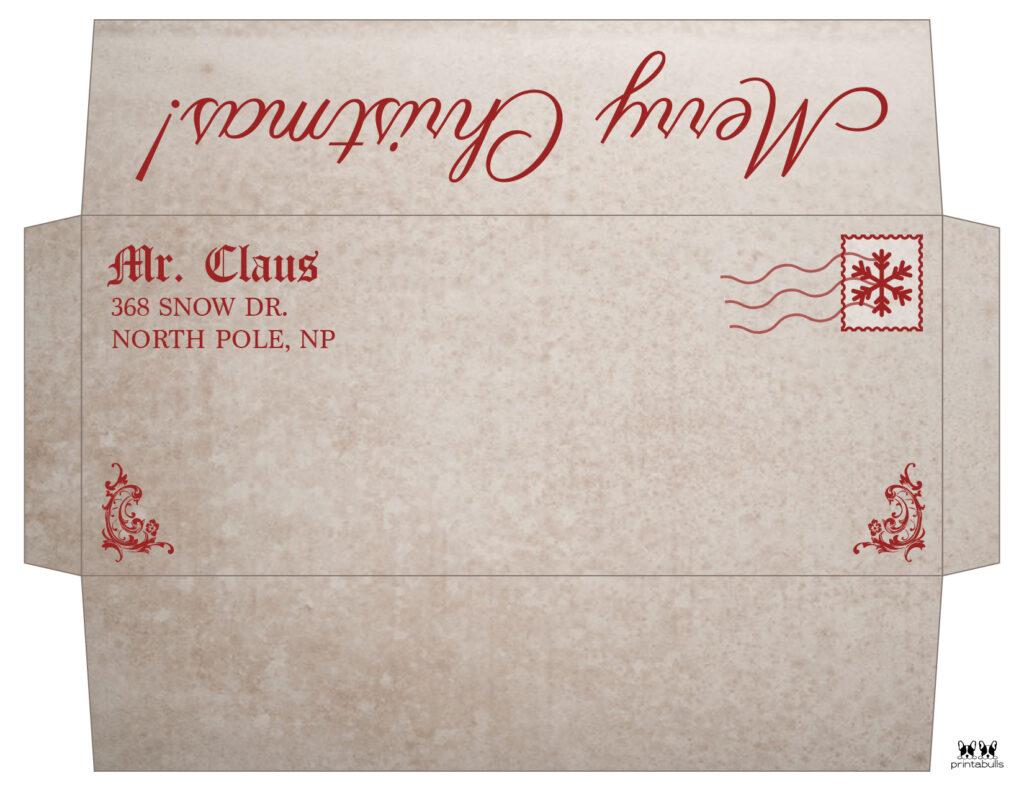 Printable Santa Envelope Template-Page 5