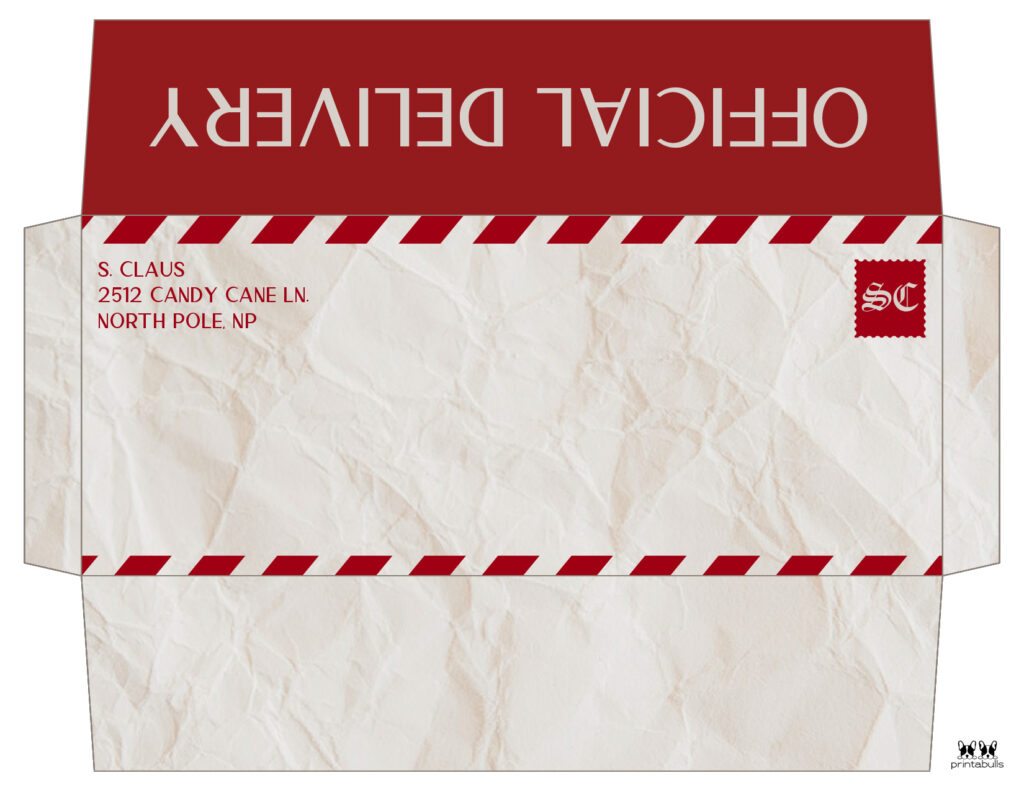 Printable Santa Envelope Template-Page 6
