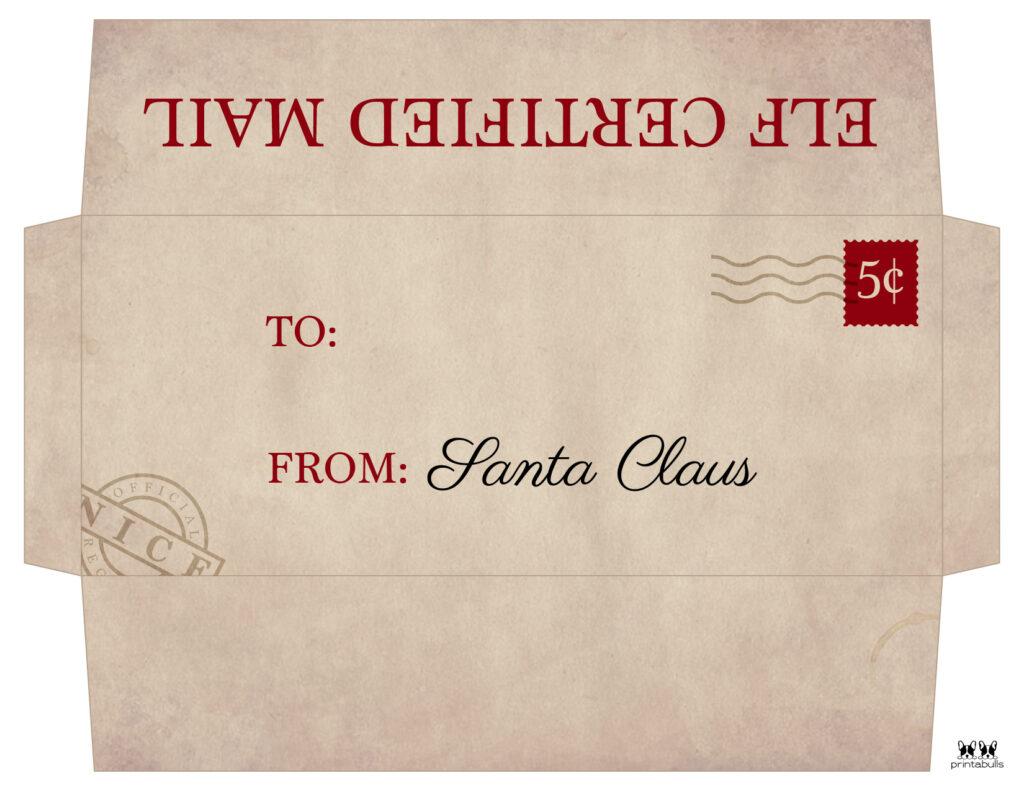 Printable Santa Envelope Template-Page 7